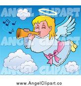 Royalty Free Horn Stock Angel Designs.