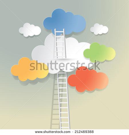 Ladder Cloud Stock Vectors & Vector Clip Art.