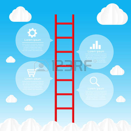 Ladder Sky Stock Vector Illustration And Royalty Free Ladder Sky.