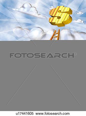 Stock Illustration of Climbing the ladder to success u17441605.