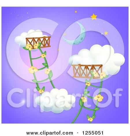 Cartoon Of A Worker Girl Climbing A Ladder.