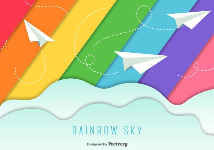 Paper Planes Sky Background.