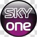 Television Channel logo icons, sky one transparent.