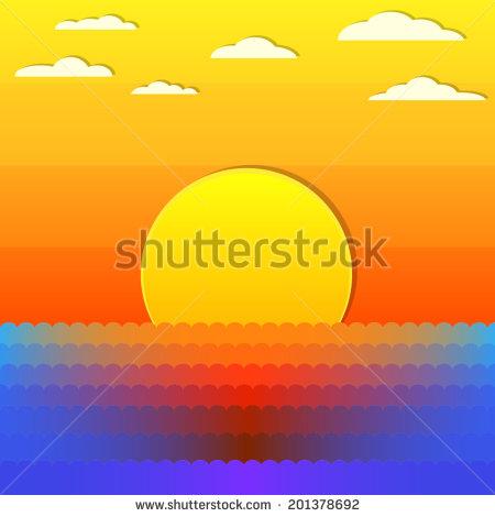 Sunset sky clipart.