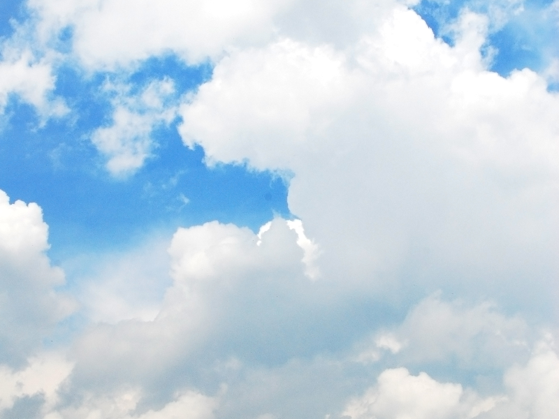 Beautiful Blue And Cloudy Sky Texture .. #95076.