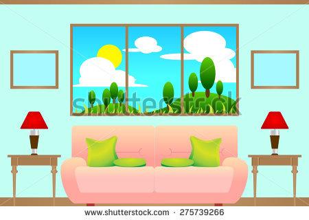 Living Room Window Stock Photos, Royalty.