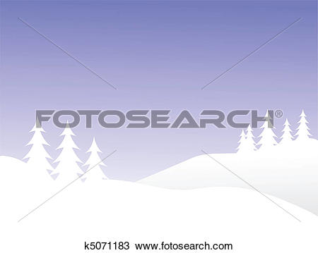 Clipart of A winter vector background illustration with white.