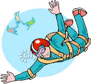 Man Sky Diving.