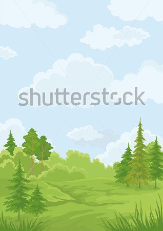 Vector illustrations, Blue skies and Forests on Pinterest.
