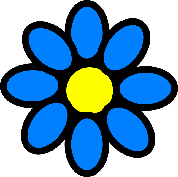 Sky Blue Flower Clip Art at Clker.com.