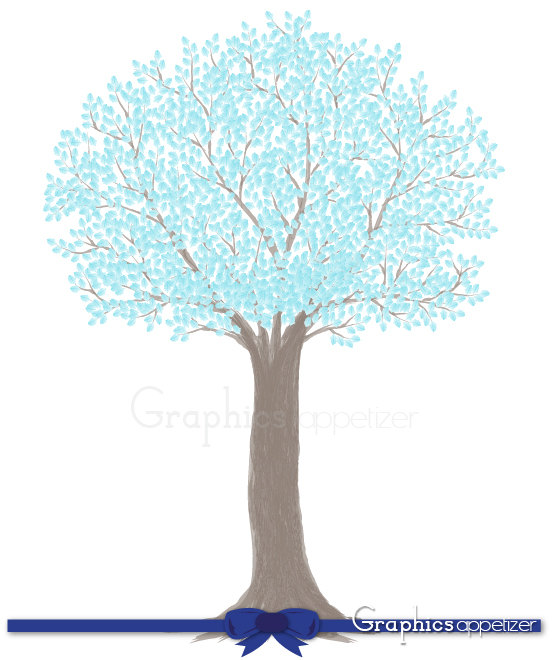 Digital Clip Art Tree Branches Sky Blue by GraphicsAppetizer.