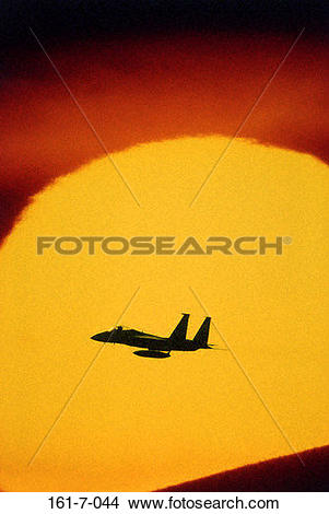 Stock Photo of Silhouette, Sky, Technology, Planes, Force, Plane.