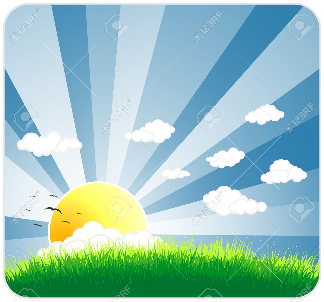 Sunny Sky Background Clipart.