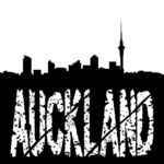 Stock Illustrations of grunge Auckland with skyline.