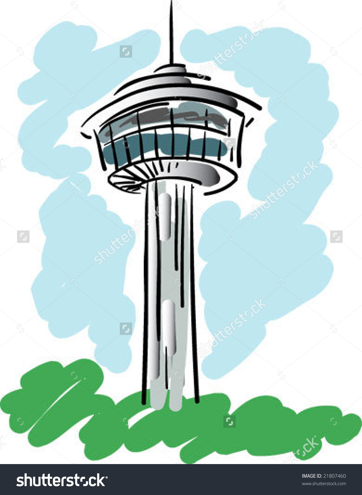 Tower Americas Stock Vector 21807460.