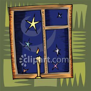 In the Night Sky Through a Window.