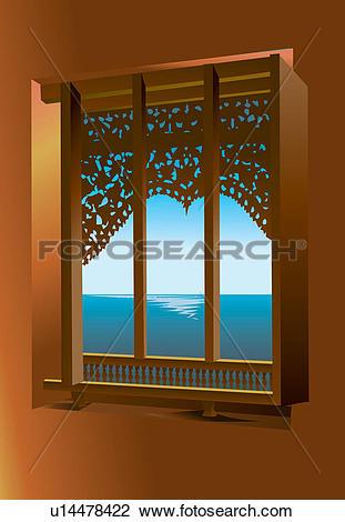 Clip Art of Ideas, Frame, Window, Decor, Home Interior, Sky.