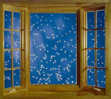 Night window clipart.