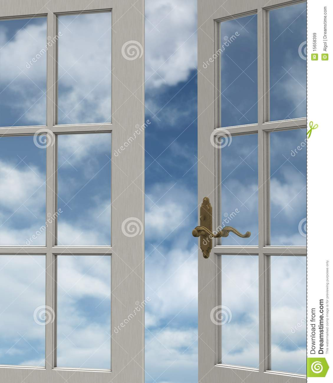 Cloudy Sky Window View Royalty Free Stock Images.