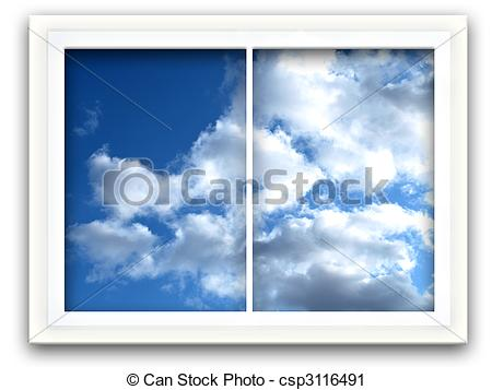 Clipart of Sky Window.
