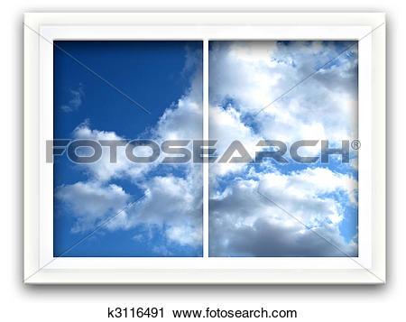Clipart of Sky Window k3116491.
