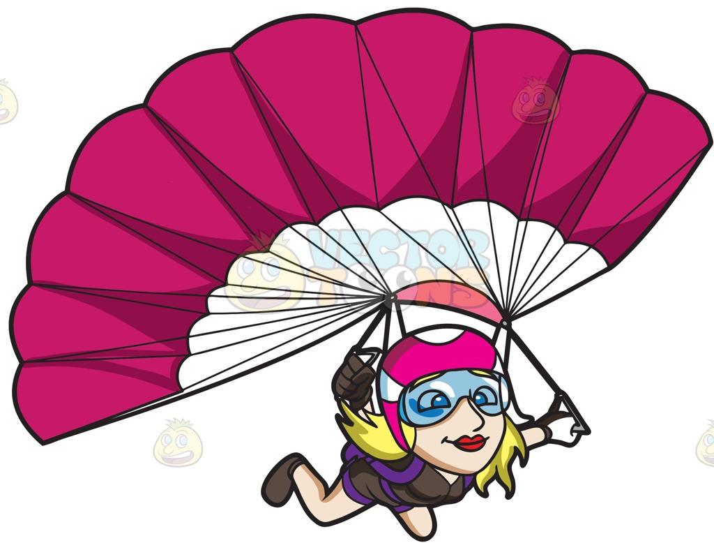 Parachutes Clipart.