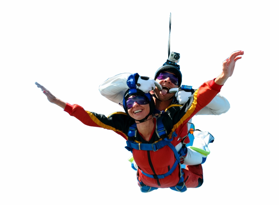Tandem Skydiving Free PNG Images & Clipart Download #485517.