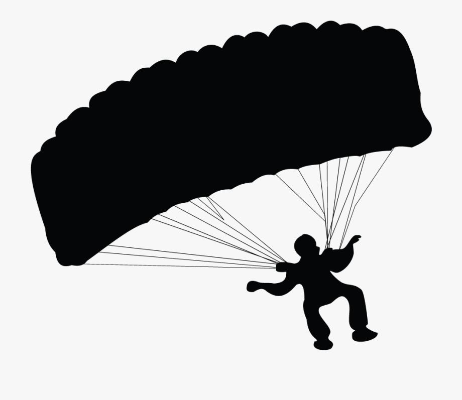 Parachuting Silhouette Transprent.