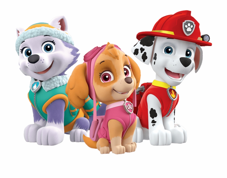 Marshall Skye Everest Paw Patrol Clipart Png.