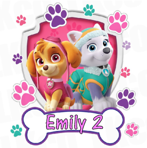 Details about Paw Patrol Skye and Everest Personalised Cake Topper 7.5\