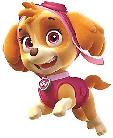 5 Inch Skye Paw Patrol Pup Wall Decal Sticker Pups Puppy Puppies Dog Dogs  Removable Peel Self.