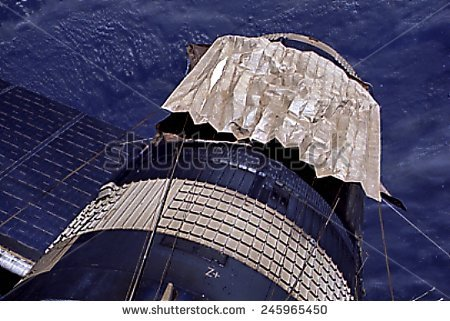 Orbiting Skylab Stock Photos, Royalty.