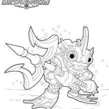 Printable Skylanders Coloring Pages.