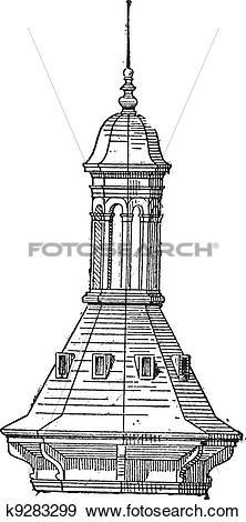 Clip Art of Skylight of Church St.