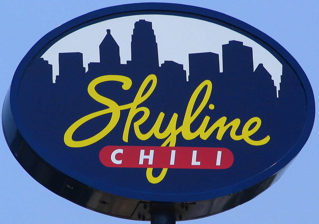 Typical Skyline Chili sign.