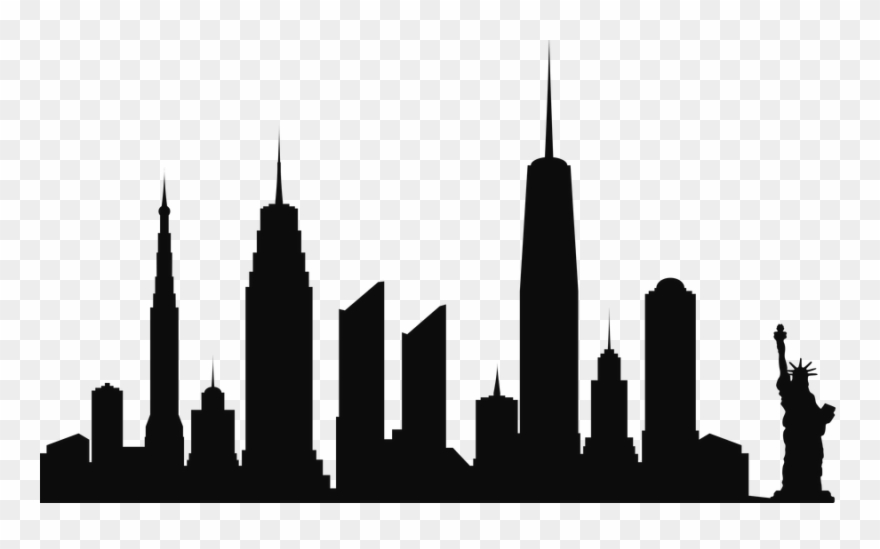 Free Png New York City Skyline Silhouette Png Png Clipart.