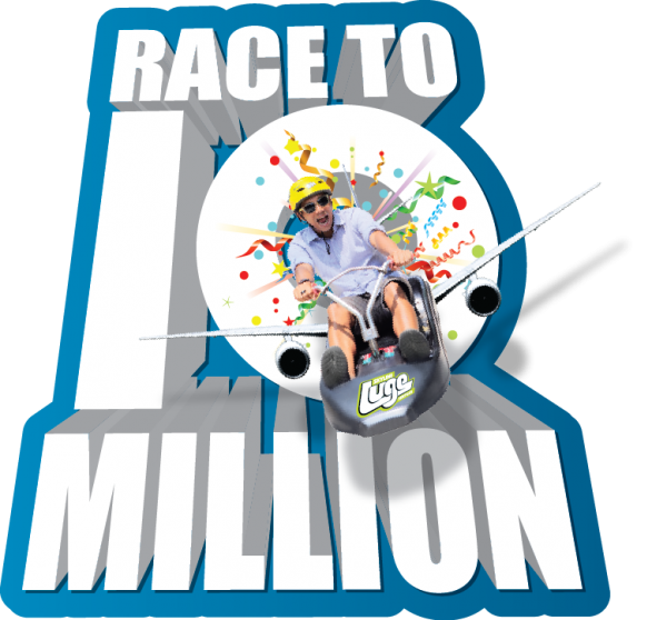 It's a Race to 10 Million at Skyline Luge Sentosa.