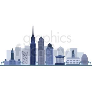 philadelphia city skyline vector clipart. Royalty.
