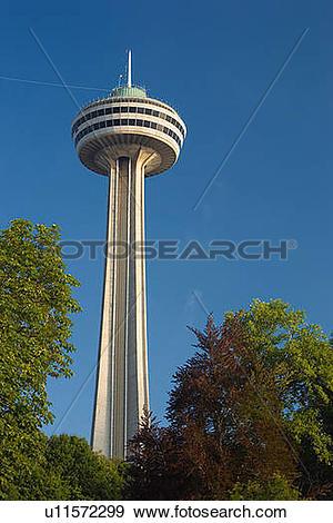Stock Photograph of Skylon Tower, Niagara Falls, Ontario, Canada.