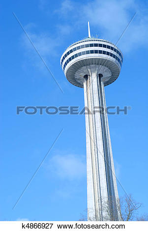 Picture of Niagara Falls Ontario and the Skylon Tower k4866927.