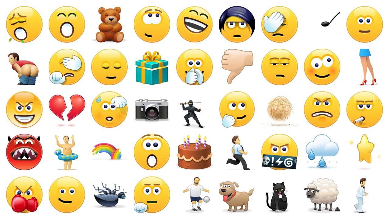 Skype emoticons.