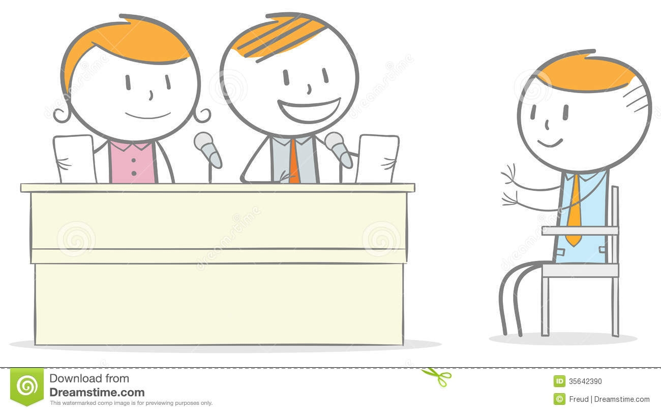 Scary Job Interview Clipart.