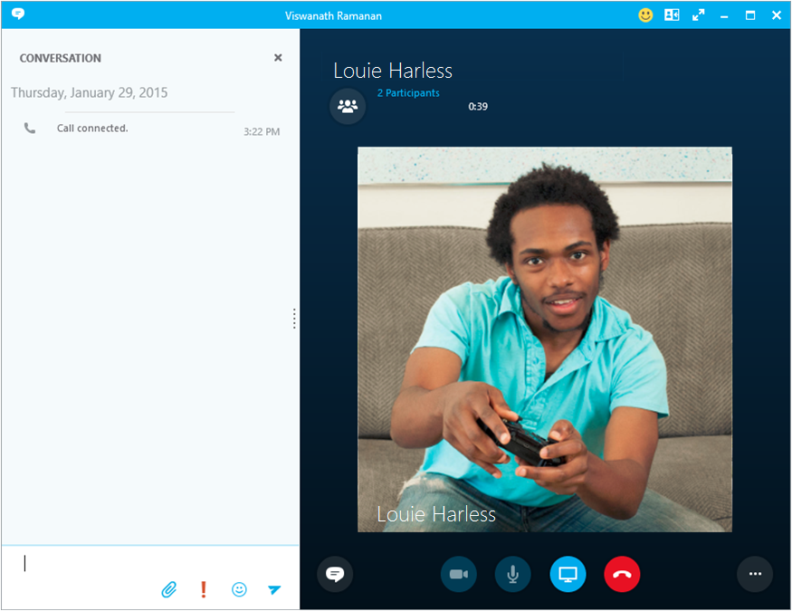 Use your desk phone to make a Skype for Business call.