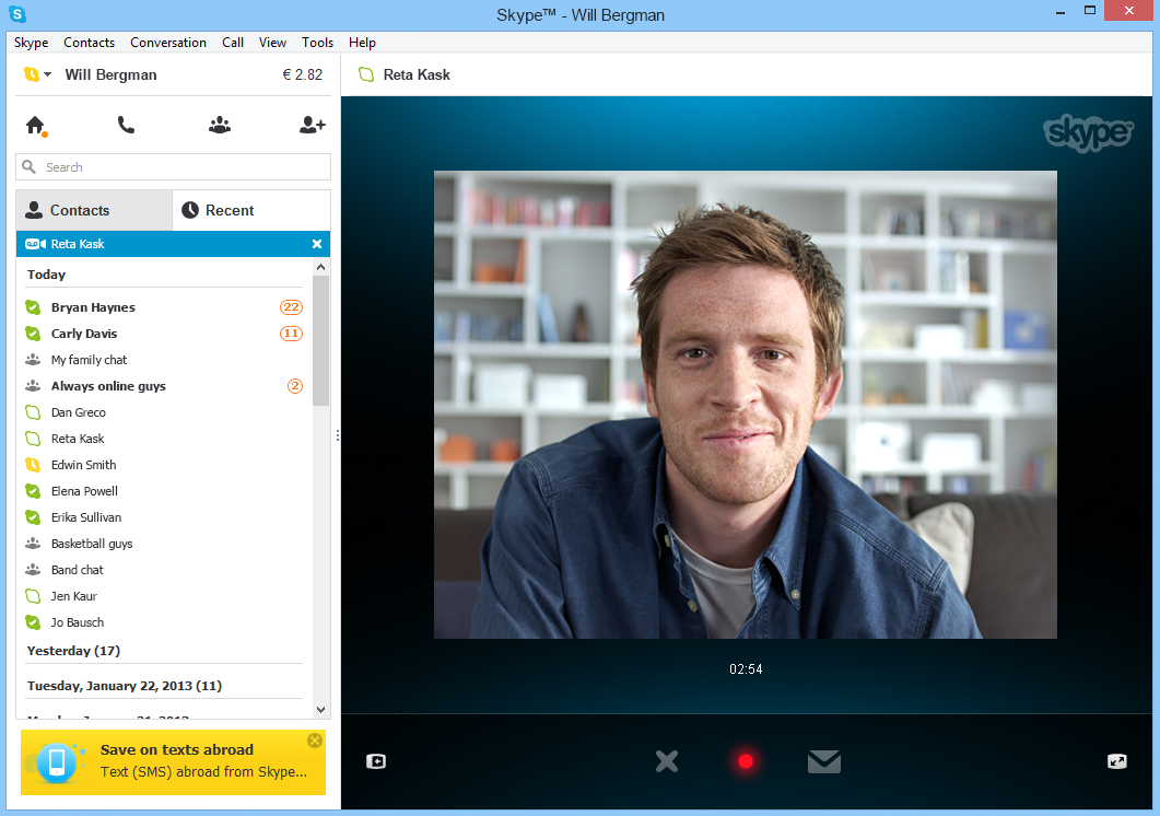 Skype Video Messaging: Preview for Windows Desktop Users.