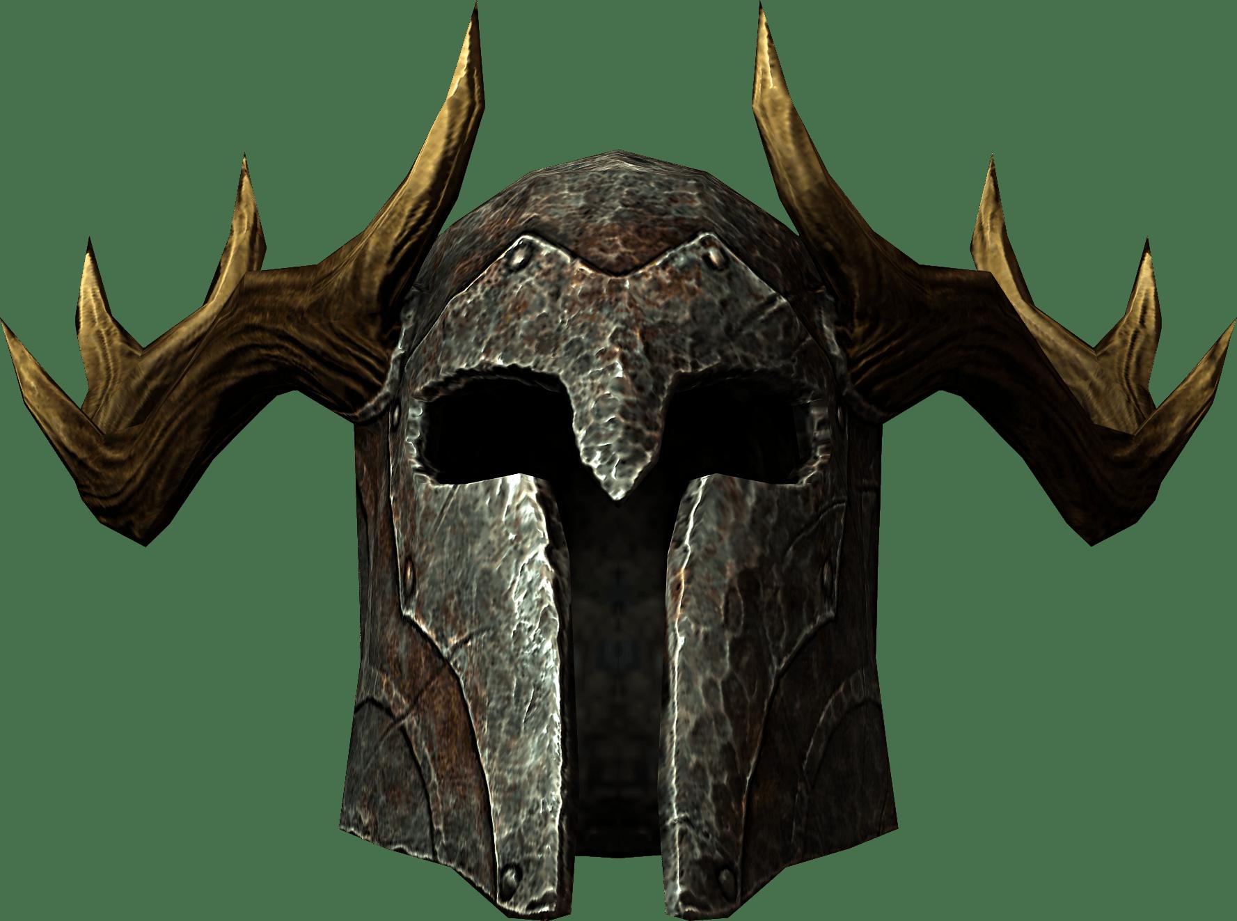 Elder Scrolls Skyrim Helmet transparent PNG.