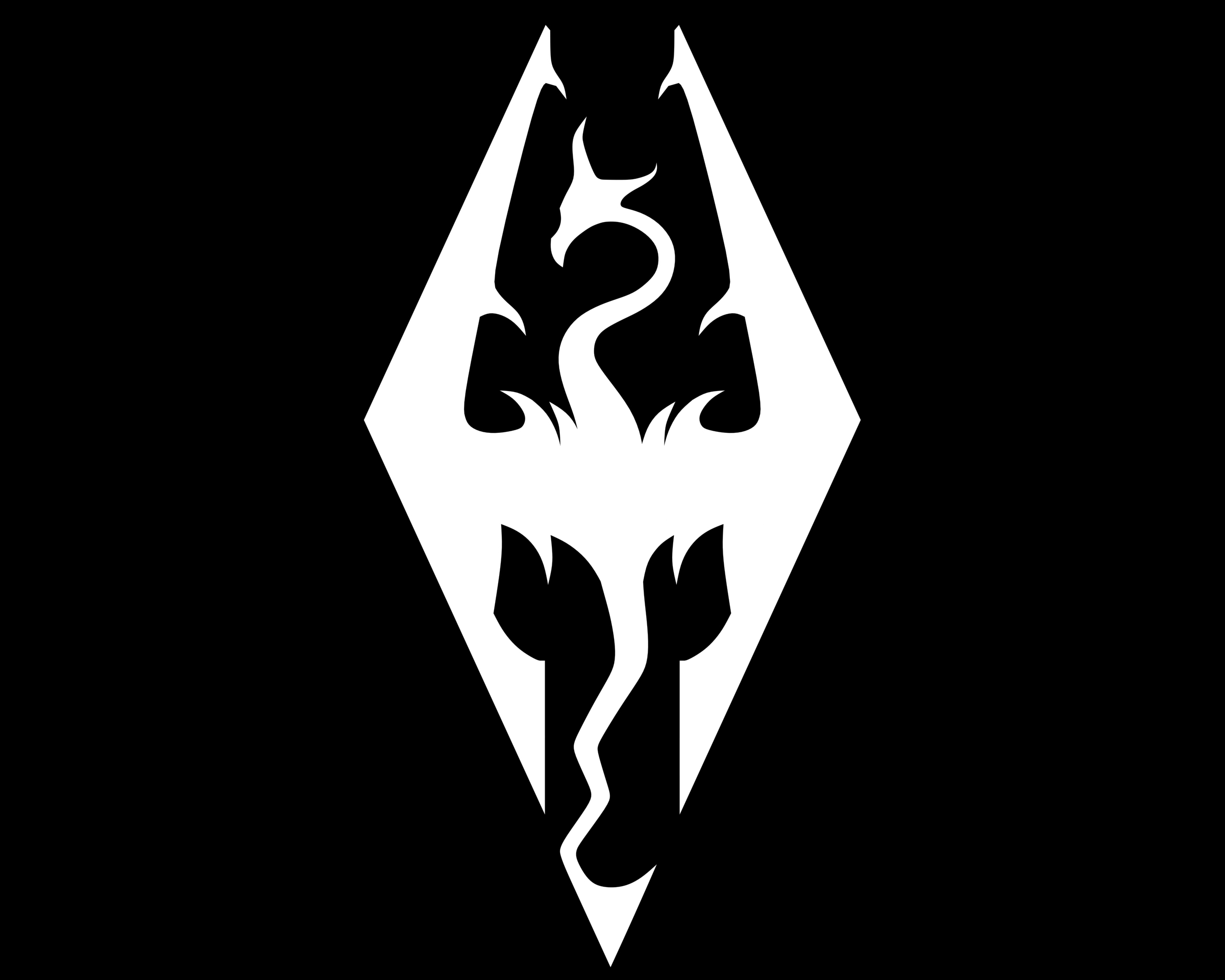 Meaning Skyrim logo and symbol.