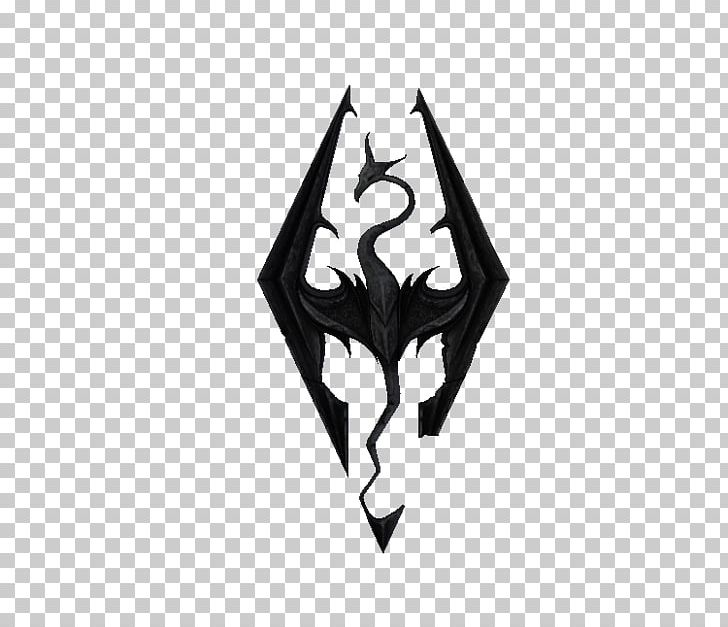 The Elder Scrolls V: Skyrim Logo Decal Video Game Mod PNG.