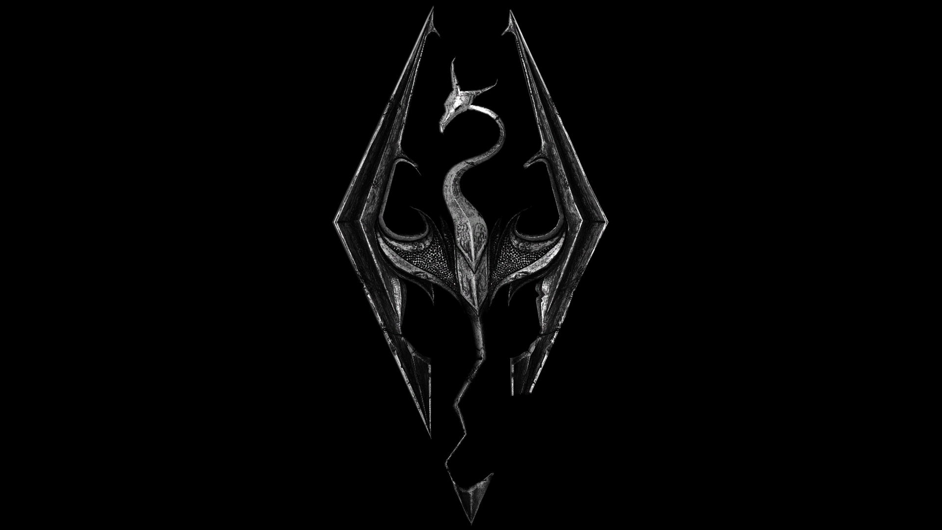 Skyrim Logo wallpaper.