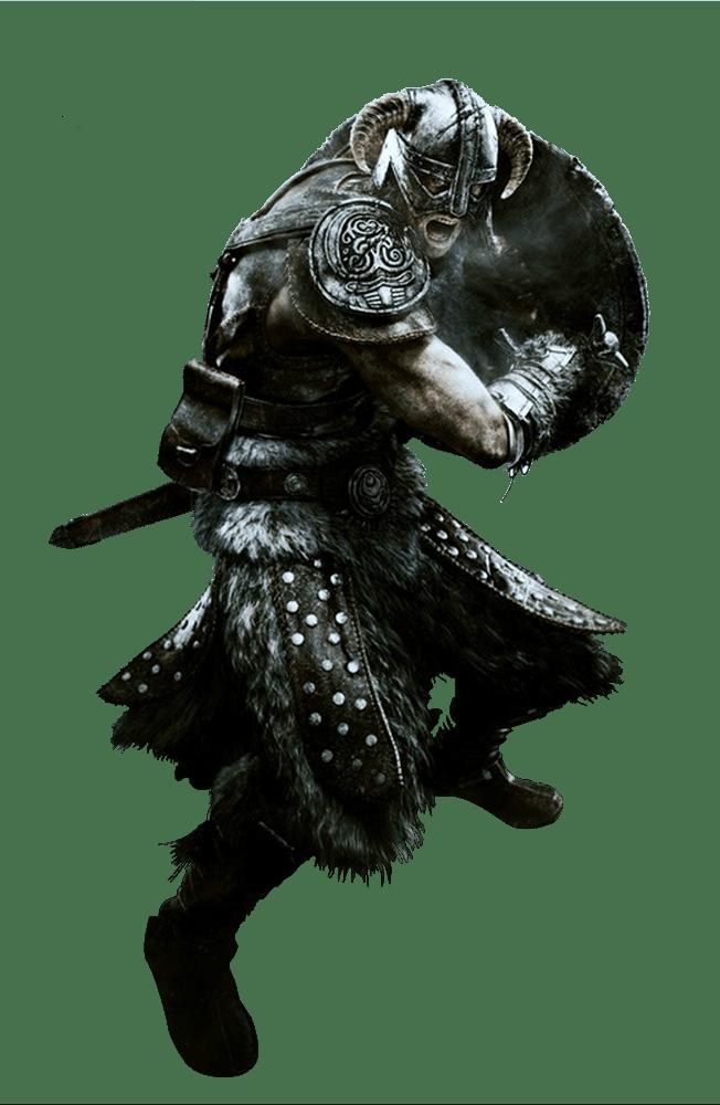 Elder Scrolls Skyrim Fighter transparent PNG.