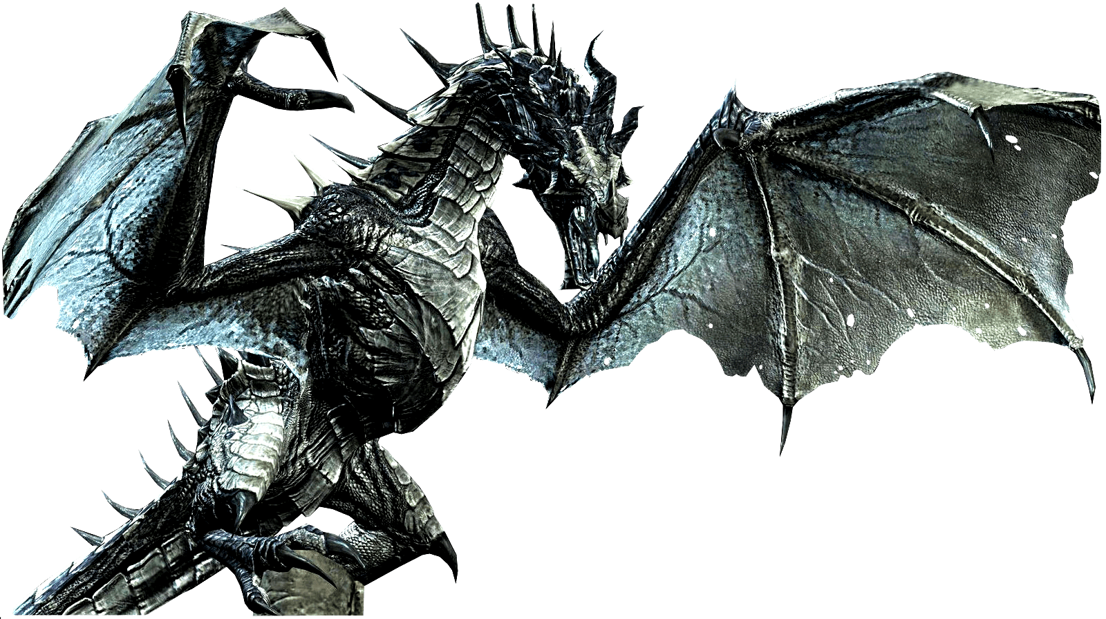 Elder Scrolls Skyrim Dragon transparent PNG.